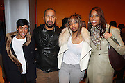 l to r: Aixa Weekes, Kenny Burns, Keesha Johnson, and Soiree Edwards at The Ryan Leslie listening party for his new album .' Transition ' presented by The NextSelection Lifestyle Group and UniversalMotown and held at The Times Center on November 4, 2009 in New York City. Terrence Jennings/Retna, Ltd