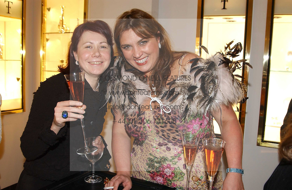 Left to right, NATALIA MATUZNY and NATA GALOGRE at a party to celebrate the International Women's Day in association with Theo Fennell and The Russian Connection held at Theo Fennell, 169 Fulham Road, London SW3 on 1st March 2005.<br /><br />NON EXCLUSIVE - WORLD RIGHTS