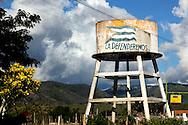 Water tower south of La Farola Highway, Guantanamo, Cuba.