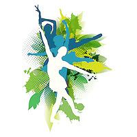 Powerful female dancer