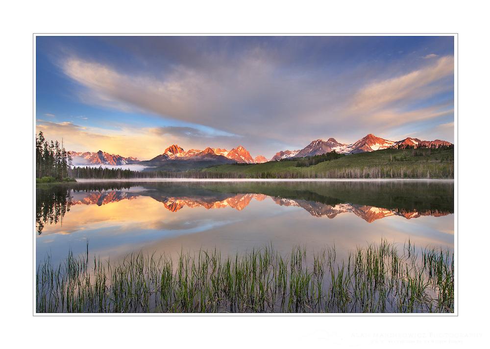 Little Redfish Lake at sunrise, Sawtooth National Recreation Area, Idaho