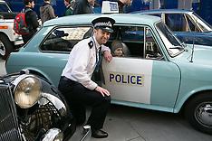 FEB 26 2014 Classic Met Police vehicles at New Scotland Yard