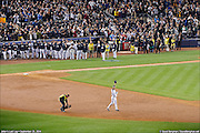 September 25, 2014 - Photo (c) 2014 David Bergman / www.DavidBergman.net -- On September 25, 2014, Sports Illustrated contributing photographer David Bergman produced a multi-shot panoramic image of Derek Jeter taking a lap around the Yankee Stadium infield for the last time as member of the New York Yankees. Jeter, who is retiring when the season ends, finished his final game in the Bronx by hitting a game-winning single in the bottom of the ninth against the Baltimore Orioles. The panorama is made up of 90 individual photos stitched together to make a single high-resolution image that is more than 600 million pixels.