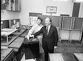 1983 - Mr Charles Haughey Votes in Referendum