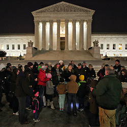 Lisa Johnston | lisajohnston@archstl.org | Twitter: @aeternusphoto<br /> <br /> Father Rickey Valleroy, pastor at St. Joseph in Farmington, MO, took his pilgrimage group to the steps of the Supreme Court of the United States on the eve of the March for Life to pray the rosary. They are just one of the many groups from the Archdiocese of St. Louis who have traveled to Washington, D.C. to participate in the March for Life.