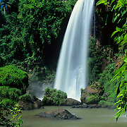 Argentina, Igwazu, Igwazu Falls. Salto Dos Hermanas (Two Brothers) thunders into the pool below.