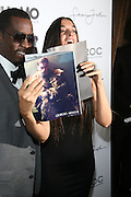 """l to r: Sean """" Diddy """" Combs and Rustsk Bergman pictured at the cocktail party celebrating Sean """"Diddy"""" Combs appearance on the """" Black on Black """" cover of L'Uomo Vogue's October Music Issue"""