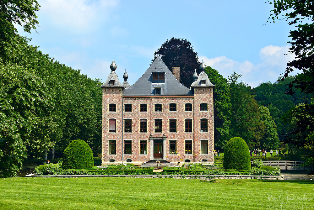 Coloma Castle in Belgium is surrounded by one of the largest rose gardens in Europe