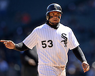 CHICAGO - APRIL 23:  Melky Cabrera #53 of the Chicago White Sox looks on against the Texas Rangers on April 23, 2016 at U.S. Cellular Field in Chicago, Illinois.  The White Sox defeated the Rangers 4-3 in 11 innings.  (Photo by Ron Vesely)   Subject: Melky Cabrera