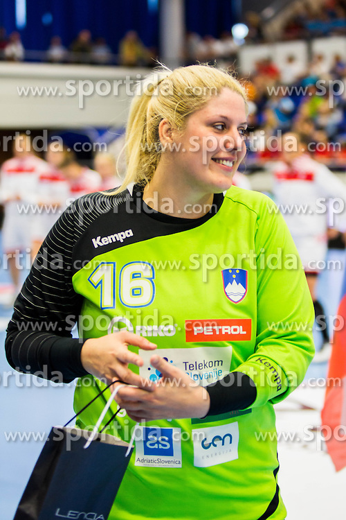 Misa Marincek of Slovenia during handball match between Women national teams of Slovenia and Croatia in Round #5 of Qualifications for Women's EHF EURO 2016 Championship in Sweden, on June 1, 2016 in Arena Golovec, Celje, Slovenia. Photo by Ziga Zupan / Sportida