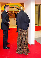 13-5-2015 - AMSTERDAM  -  Queen Máxima presented in De Nederlandsche Bank in Amsterdam King Willem I Prize in 2014 and King William I Plaque for Sustainable Entrepreneurship 2014. King Willem I Award is a firm price since 1958 is awarded by King William I Foundation biennially. Until 2013, the Prince of Orange was honorary president of the foundation. Queen Máxima has taken over this job .COPYRIGHT ROBIN UTRECHT