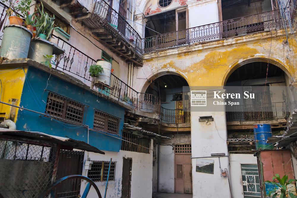 Old building in the historic center, Havana, UNESCO World Heritage site, Cuba
