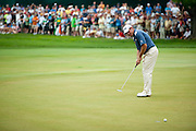 LEE WESTWOOD watches his birdie putt slip past on the 3rd hole at Congressional Country Club during the final round of the U.S. Open in Bethesda, MD.