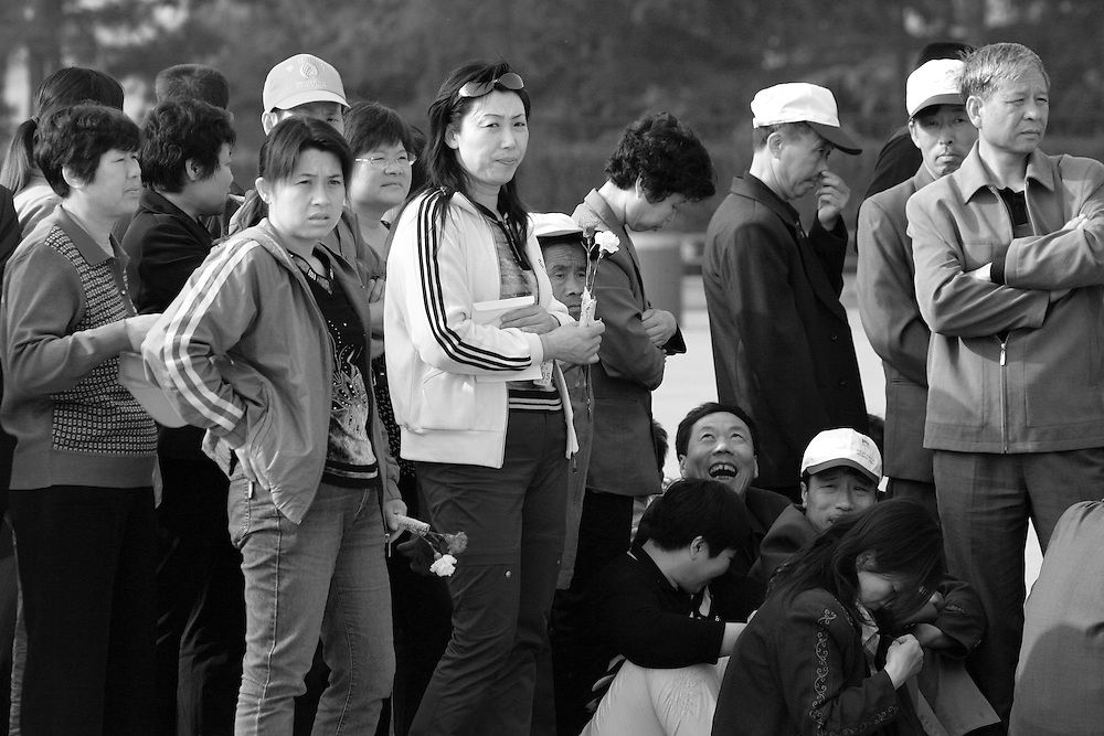 Chinese line up to see Mao's mummified body inside his Mausoleum in Tiananmen square, Beijing, China May 15, 2006.Despite failed policies that left millions dead and brought the country near to collapse, Mao is widely revered for his founding of communist China.