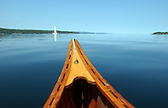 Canoeing on Lake Champlain, Ferrisburgh, Vermont.