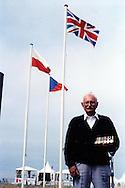 Bob Tackley, British D-Day veteran, in Courseulles in June 2004