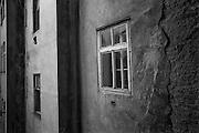 Building in Prague Zizkov.