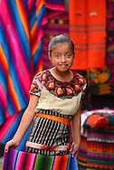 Girl on the market,Chichicastenango,Guatemala,Central America.