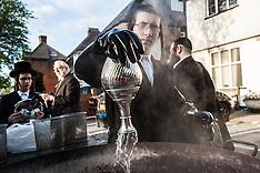 Passover in Stamford Hill, London - Koshering utensils
