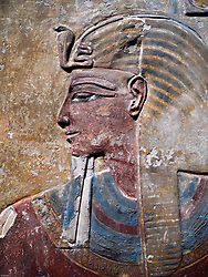 Detail of Egyptian relics on display at reopened Neues Museum in Berlin Germany