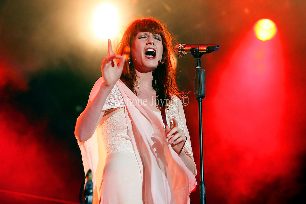 Florence Welch of Florence and The Machine performs on the eighth night of the Summer Series at Somerset House on July 15, 2010 in London, England.  (Photo by Simone Joyner)