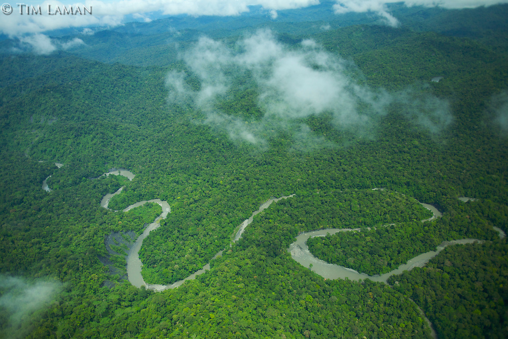 A river draining from the Foja Mountains toward Kwerba Village.