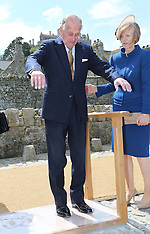 MAY 17 2013 The Queen and Duke of Edinburgh visit Cornwall