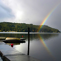 Rainbow over the Hood Canal, Washington state.