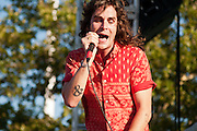 Sam Martin of Youngblood Hawke performs at Bunbury Music Festival at Yeatman's Cove in Cincinnati, Ohio on July 12, 2013.