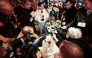 Green Bay Packers' Donald Driver during a media availability Wednesday morning. .On Wednesday February 2, the Green Bay Packers held press conferences at the team hotel, the Omini Mandalay at Las Colinas. Steve Apps-State Journal.