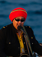 Marty Dread performs aboard a Pacific Whale Foundation Island Rhythmns Sunset Cocktail Cruise.