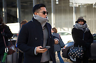 Turtleneck Sweater and Pea Coat, NYFWM Day 1
