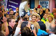 13-11-2014 - ALKMAAR -  Queen Maxima opens Thursday, November 13th at the AFAS stadium in Alkmaar, the Jubilee Foundation Beursvloer Range. On the exhibition stand companies that their knowledge, materials or 'volunteer hours' offer for free to nonprofits.<br /> COPYRIGHT ROBIN UTRECHT 13-11-2014 - ALKMAAR - Koningin Maxima opent donderdag 13 november in het AFAS stadion in Alkmaar de Lustrum Beursvloer van Stichting De Waaier. Op de beursvloer staan bedrijven die hun kennis, materialen of &lsquo;vrijwilligersuren&rsquo; gratis aanbieden aan non-profitorganisaties. COPYRIGHT ROBIN UTRECHT