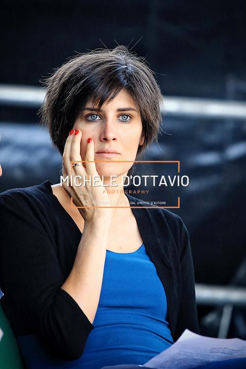 Torino 6 luglio 2016  Chiara Appendino partecipa alla celebrazione della festa per la fine del Ramadan al parco Dora di Torino.