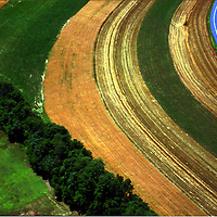Aerial view of Farm Aerial views of artistic patterns in the earth.