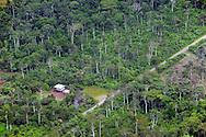 aerial view near Coca, Amazonia, Ecuador