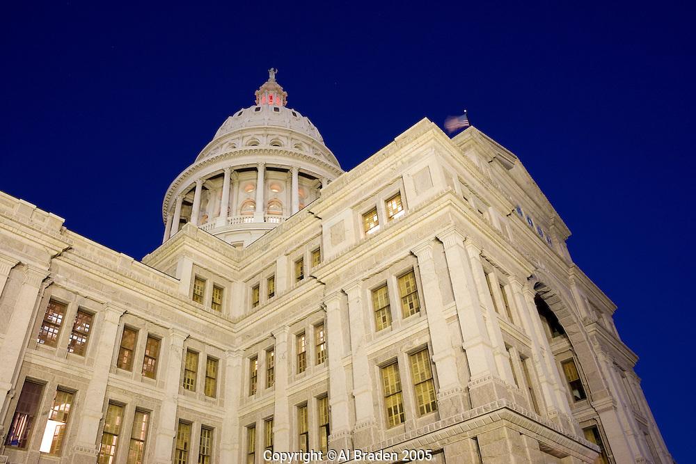 NIght View, Texas State Capitol, Austin, Texas