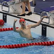 LONDON 2012 PARALYMPIC GAMES..Fifteen-year-old schoolboy swimming sensation Josef Craig  after becoming Britain's youngest Paralympic gold medal winner after  astounding victory in the S7 400m freestyle at the Aquatics Centre on September 6th.
