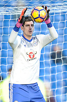 Thibaut Courtois of Chelsea during the Premier League match between Chelsea and West Bromwich Albion at Stamford Bridge, London, England on 11 December 2016. Photo by Salvio Calabrese.
