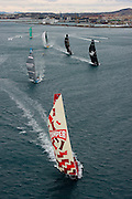 ALICANTE, SPAIN - NOVEMBER 5:  CAMPER with Emirates Team New Zealand sails during the start of leg 1 of the Volvo Ocean Race to Cape Town on November 5, 2011 in Alicante, Spain.  (Photo by Chris Cameron/CAMPER via Getty Images)