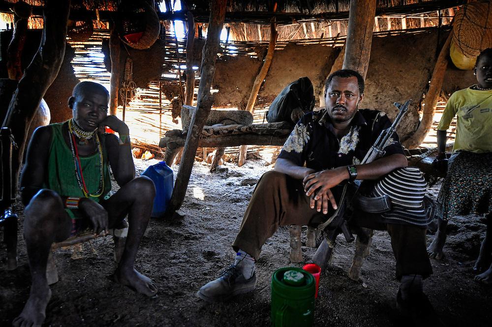 Dago, Dago, Gublak, Ethiopia, man, Kalashnikov Gumuz, Gilgel, Blese, valley, Africa, Ethiopia, Sudan border Beles