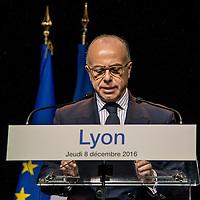 1er deplacement de B.Cazeneuve, Premier ministre. Lyon