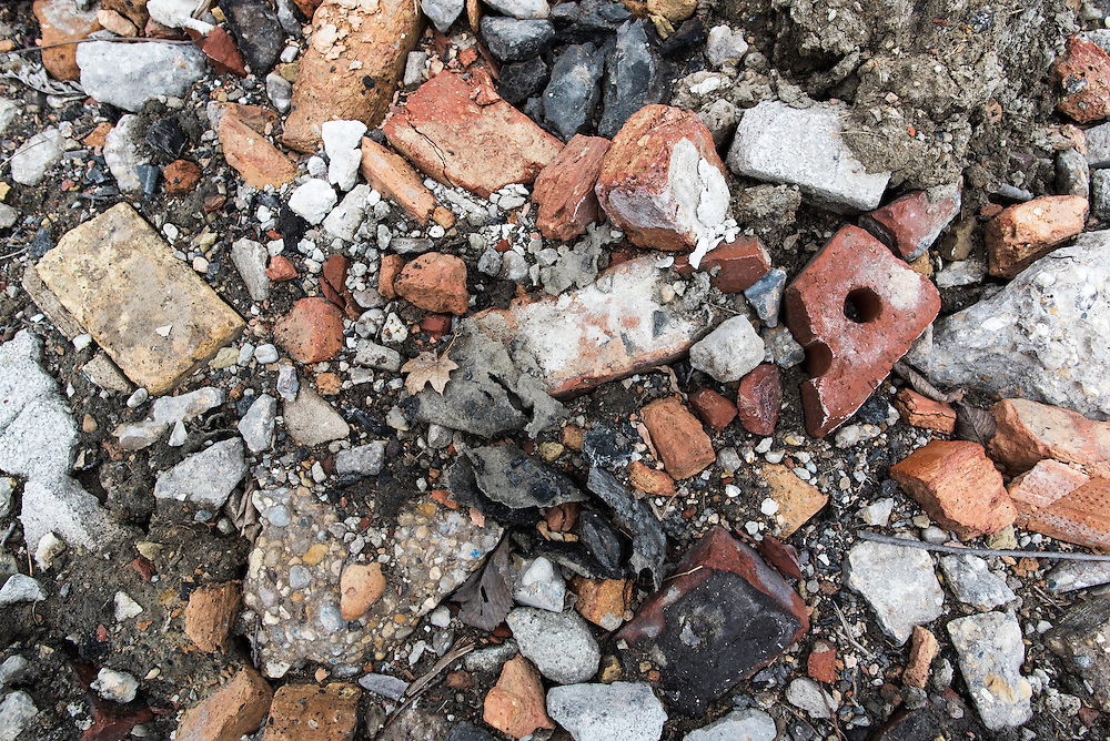 Bricks and concrete are all that remains of homes that used to stand on 57th Street.