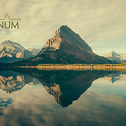 grinnell mountain, glacier national park, grinnell lake, lake, glacier park, glacier, reflection, swift current, many glacier,