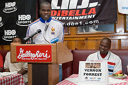 July 6, 2006 - New York, NY - Unbeaten contender Sechew Powell during the press conference announcing upcoming August 5, 2006 fight against Kassim Ouma at the Theater at Madison Square Garden.
