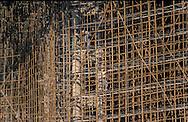 Hong Kong. . construction of the new convention center by ?Bouygues?  / building of the handover ceremony between Great Britain and China / les ? cathedrales de bambous?: construction du nouveau centre de convention par Bouygues.