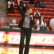 Former basketball player and University of Louisiana at Monroe associate head women's basketball coach E. J. Ok jersey is retired on Saturday Jan. 25, 2014.