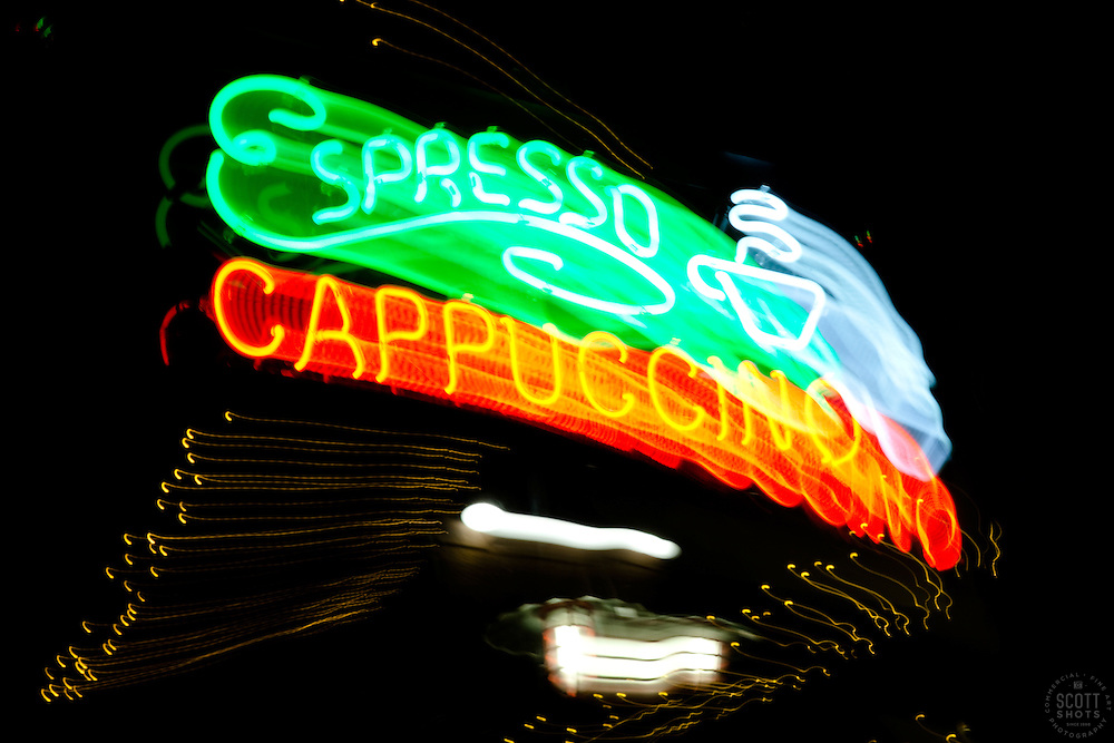 """Espresso Cappuccino"" - The effect of this photo was achieved by moving the camera lens during a long exposure."