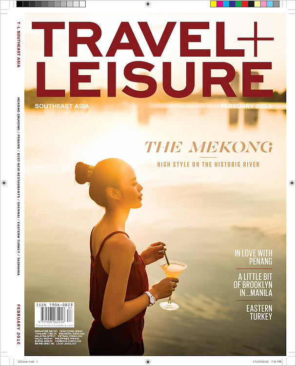 Cover piece for Travel + Leisure Southeast Asia on the Mekong River in southern Vietnam.