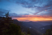 A beautiful sunset from the Chimney Tops in the Great Smoky Mountain National Park.